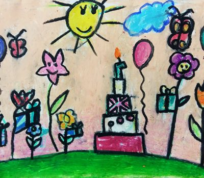 نقاشی خلاق .اثر آنیا درویش دوست .۶ ساله .سال ۶ ۹