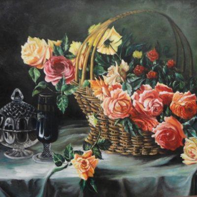 از تمرینات دوره ی طبیعت بیجان . تکنیک رنگ روغن . مريم محمودي