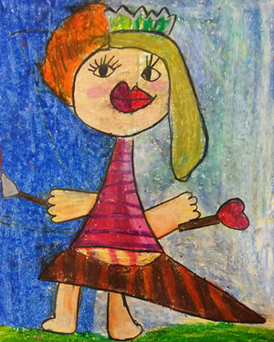 نقاشی خلاق . اثر ثنا حیدریان . ۶ ساله .سال ۶ ۹