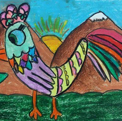 نقاشی خلاق . اثر آوا صابر . ۷ساله . سال ۶ ۹