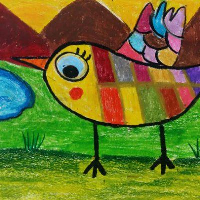 نقاشی خلاق . اثر سها شاملونیا .  ۹ ساله . سال ۶ ۹