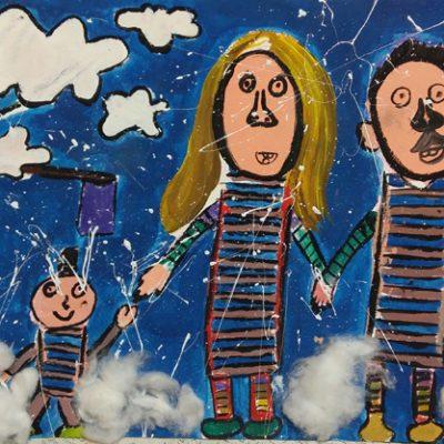 نقاشی خلاق . اثر شمیم ندایی . ۱۰ ساله .سال ۶ ۹