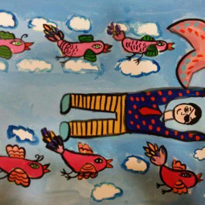 نقاشی خلاق . اثر سورن اسدی . ۱ ۱ ساله .سال ۶ ۹