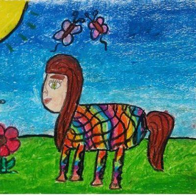 نقاشی خلاق . اثر تارا امامی فر . ۱ ۱ ساله .سال ۶ ۹