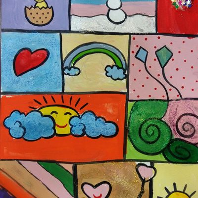 نقاشی خلاق . اثر آیسا اربابی. ۱ ۱ ساله .سال  ۶ ۹