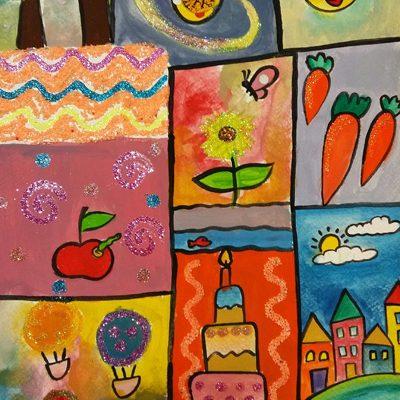 نقاشی خلاق . اثر فرناز خدمتگزار . ۱ ۱ ساله .سال  ۶ ۹