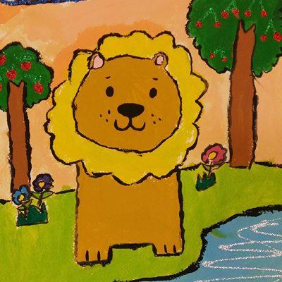 نقاشی خلاق . اثر فاطمه رستمی . ۷ساله . سال ۶ ۹
