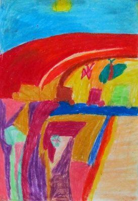 نقاشي خلاق . اثر زيبا ستوده . ۷ ساله . سال92