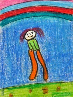 نقاشي خلاق . اثر هستي توكلي . ۵ ساله .سال ۹۲