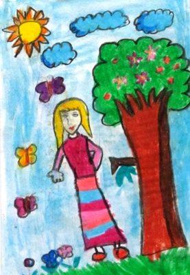نقاشي خلاق . اثر كيانا ساعد . ۶ ساله . سال ۹۲