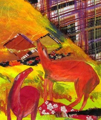 كلاژ نقاشي . اثر محدثه صميمي راسخ . ۱۰ ساله . سال ۹۱