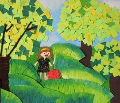 كلاژ نقاشي . اثر مريم روحي . ۱۱ ساله . سال ۹۲