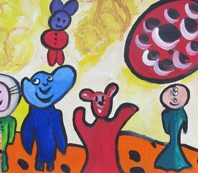 چاپ نقاشي .اثر مليكا نظري . ۹ ساله . سال ۹۲