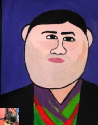 نقاشي خلاق . اثر آرتين آذرنژاد .۶ ساله . سال ۹۲