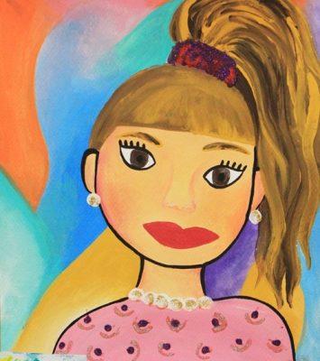 نقاشي خلاق . اثر یاسمین سفیدی . ۸ ساله . سال ۹۳