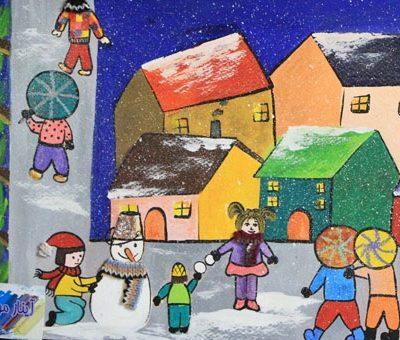 نقاشي خلاق . اثر آیناز موسی زاده . ۱۰ ساله . سال ۹۳