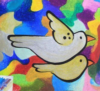 نقاشي خلاق . اثر فاطمه جمالزاده . 7ساله . سال ۹۳