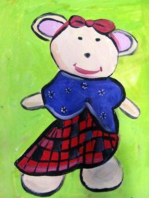 نقاشي خلاق . اثر مهرسا مرحبا . ۷ ساله . سال ۹۲