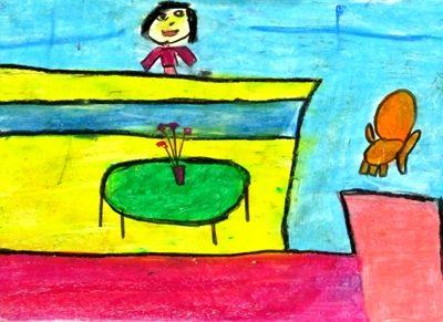 نقاشي خلاق . اثر مهتا وفاجو . ۸ ساله . سال ۹۲