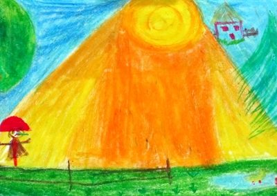 نقاشي خلاق .اثر مهتا وفاجو . ۸ ساله . سال ۹۲
