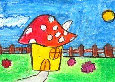 نقاشي خلاق .اثر فاطمه صادق پور . ۷ ساله . سال ۹۲