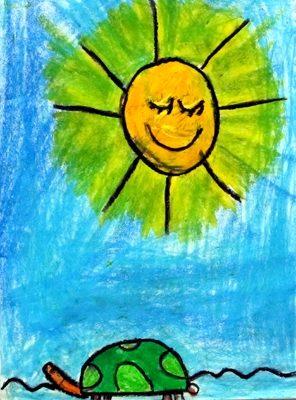 نقاشي خلاق . اثر ايليا كريمي نژاد . ۶ ساله .سال ۹۲