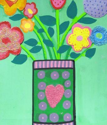كلاژ نقاشي . اثر نیکی کریمی . ۸ ساله . سال ۹۴