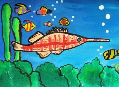 نقاشي خلاق . اثر اميد اسمي . ۸ ساله . سال ۹۳
