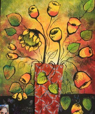 كلاژ نقاشي . اثر کارین جلالی . ۹ ساله . سال ۹۳