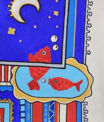 كلاژ نقاشي . اثر مهزاد رشیدی . ۱۱ ساله . سال ۹۳