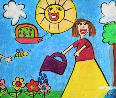 نقاشي خلاق . اثرفاطمه نیا پور . ۶ ساله . سال 9