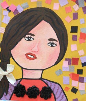 نقاشي خلاق . اثر رژ ینا آلیانی . ۷ ساله . سال ۹۳